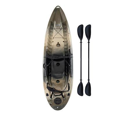 Lifetime® 10' Tandem Fishing Kayak w/ Paddles & Backrests - Camouflage
