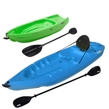 Lifetime� 8' Adult / 6' Youth Kayak Combo Pack