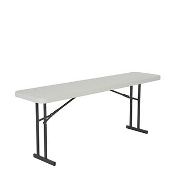 OFFLINE Lifetime 6' Folding Seminar Table, White Granite - 5 pack