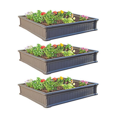 Lifetime 4' Raised Garden Bed - 3 pack