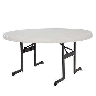 Lifetime 5' Round Professional Grade Table - Almond