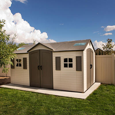 Lifetime Dual-Entry Outdoor Storage Shed - 8' x 15', Original Price $1899.00