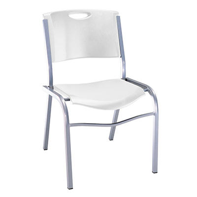Lifetime Stacking Chair - White Granite - 14 pack