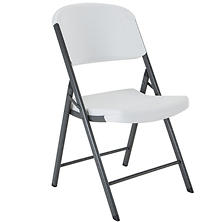 Lifetime Commercial Grade Contoured Folding Chair, White Granite