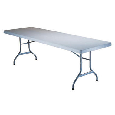 Lifetime 8' Folding Utility Table - White Granite