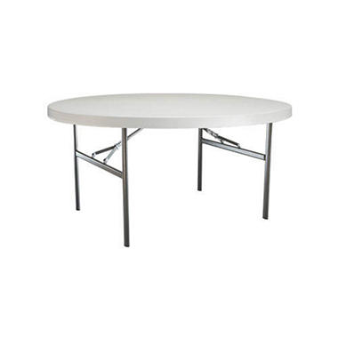 Lifetime 5' Round Table - White Granite