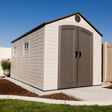 Lifetime Outdoor Storage Shed - 8' x 12.5'