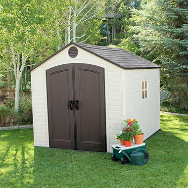 Lifetime 8' x 10' Outdoor Storage Shed (Various Assembly Options)