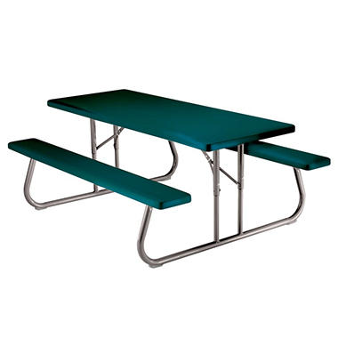 Single Lifetime 6' Folding Picnic Table