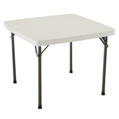 "Lifetime 37"" Card Table - Almond"
