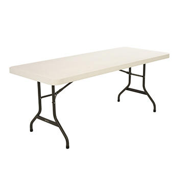 Lifetime 6' Commercial Grade Folding Table, Almond (Select Quantity)
