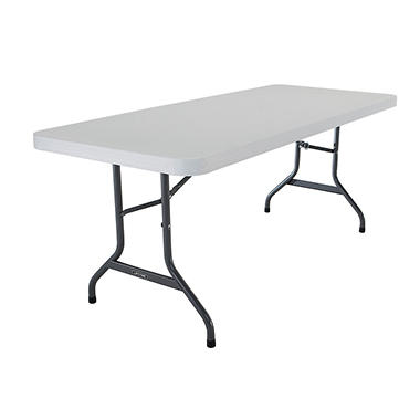 Lifetime 6' Commercial Grade Folding Table, White Granite (Select Quantity)