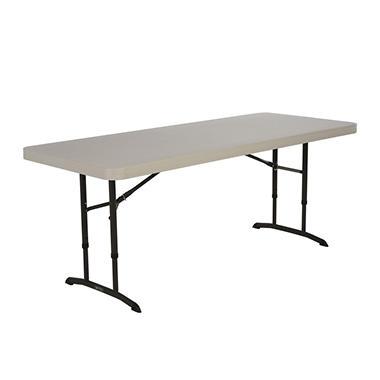 Lifetime 6' Adjustable Height Table - Almond