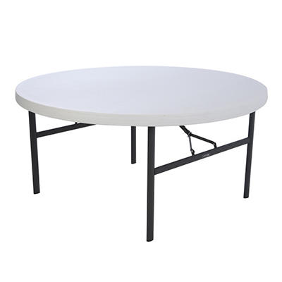 Lifetime 5' Round Commercial Grade Folding Table - White Granite