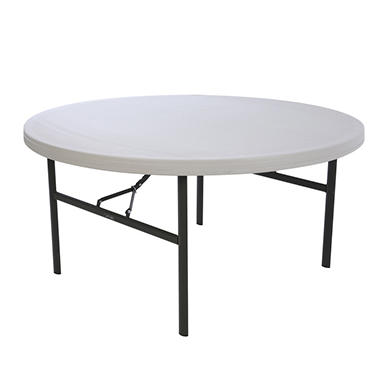 Lifetime Round Commercial Grade Folding Table - 5' - Almond