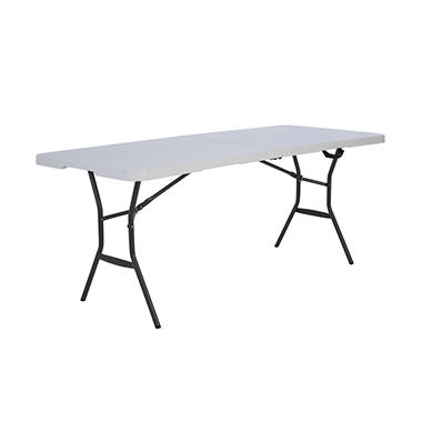 Lifetime 6' Fold-in-Half Table - White Granite