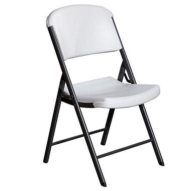 Lifetime - Commercial Contoured Folding Chair - White - 4 pk.