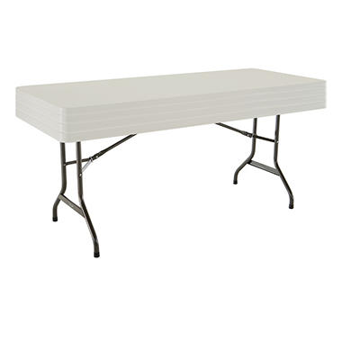 Lifetime Folding Tables - 6' - Almond - 4 pack