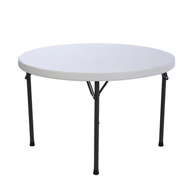 "Lifetime 46"" Round Folding Table - White Granite - 4 pack"
