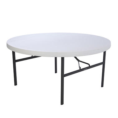 "Lifetime 60"" Round Folding Tables - 4 pack"