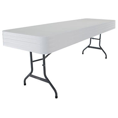 Lifetime 8' Commercial Grade Folding Table, White Granite (4 pk.)