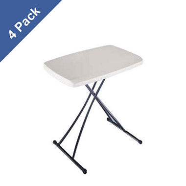 "Lifetime 20"" Personal Folding Table - Almond - 4 pack"