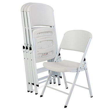 lifetime white commercial grade folding chair white frame