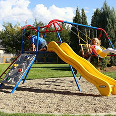 Lifetime Climb and Slide Playset, Primary Colors