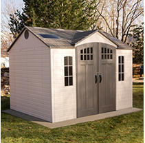 Lifetime 10' x 8' Outdoor Storage Shed with Carriage Doors-installation included