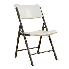 Lifetime Commerical Grade Contemporary Folding Chair, Almond - 4 pack