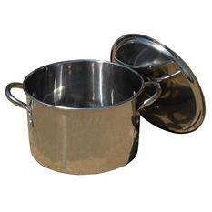 King Kooker, Model #KK8S, 8-Qt. Stainless Steel Boiling Pot with Lid