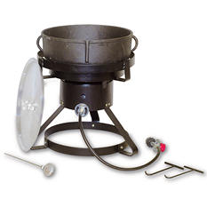 King Kooker Jambalaya Cooker and 5 gal. Cast Iron Pot