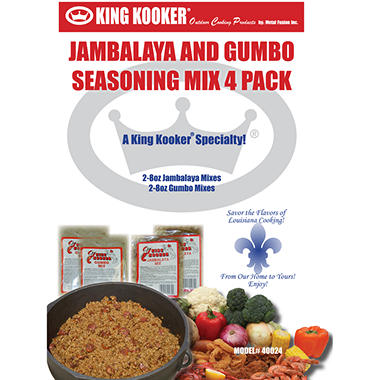 King Kooker Gumbo and Jambalaya Seasoning Pack
