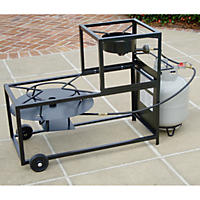 King Kooker Frying/Boiling Portable Propane Outdoor Cart Burner