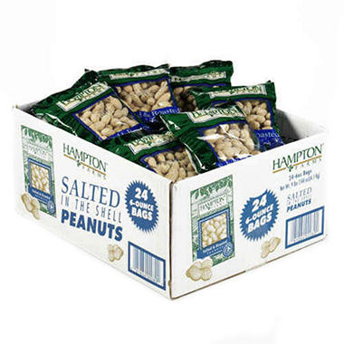 In Shell Peanuts - 6 oz. - 24 bags