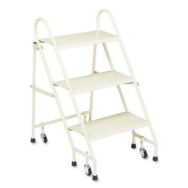 Cramer� Steel Folding 3-Step Ladder w/ Casters