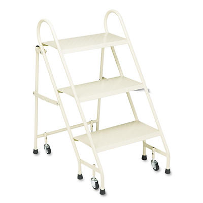 Cramer® Steel Folding 3-Step Ladder w/ Casters