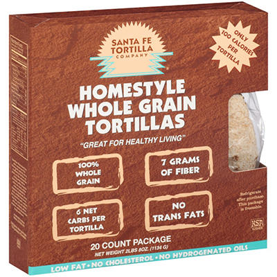 Santa Fe Tortilla Company® Whole Grain - 20ct