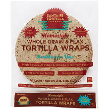 Santa Fe Tortilla Company Homestyle Whole Grain & Flax Tortilla Wraps (20 ct.)