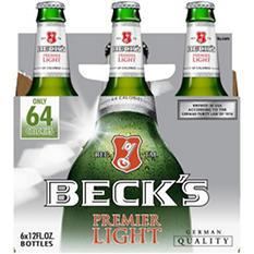 Beck's Premier Light Beer (12 fl. oz. bottle, 6 pk.)
