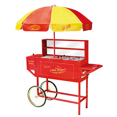 Nostalgia Electrics? HDC-701 Vintage Collection? Carnival Hot Dog Cart & Umbrella