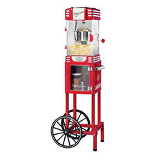 Nostalgia Retro Series 47'' Popcorn Cart (2.5oz. Kettle)
