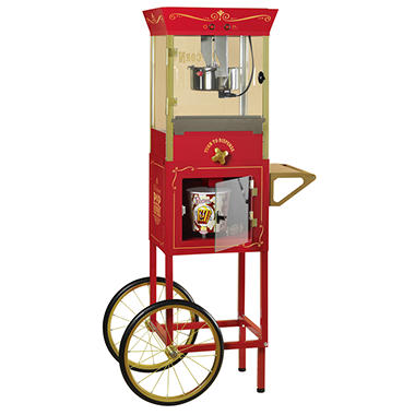 "Nostalgia Electrics? CCP810 Vintage Collection? 59"" Old Fashioned Movie Time Vending Popcorn Cart"