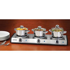 Nostalgia Triple Burner Buffet Server