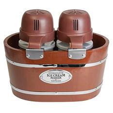 Nostalgia Vintage Collection 4-Quart Double Flavor Electric Ice Cream Maker