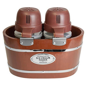 Nostalgia Vintage Collection 4-Quart Double Flavor Electric Ice Cream Maker