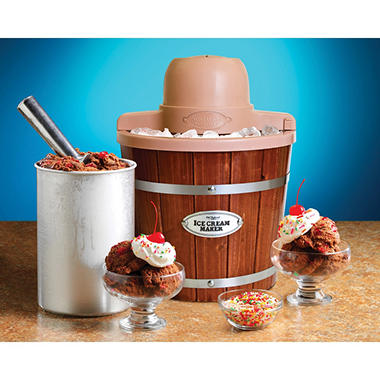 Sams Countertop Ice Maker : ... Vintage Collection Wood Bucket Ice Cream Maker (2-Quart) - Sams Club