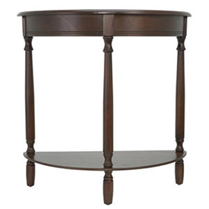Half-Round Console Table, Walnut