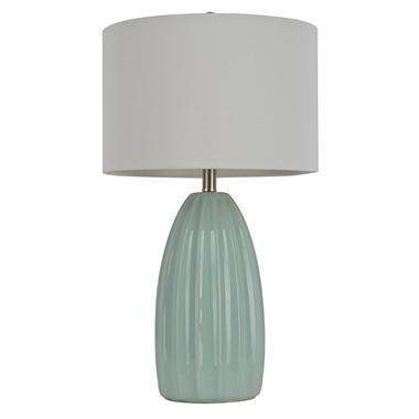 Jimco Lamp Ribbed Ceramic Table Lamp, Light Blue - Sam's Club