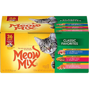 Meow Mix Classic Favorites, Variety Pack (2.75 oz., 36 ct.)